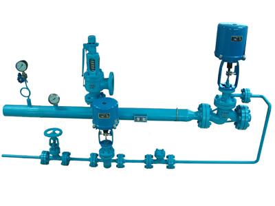 变频式减温减压装置主要由减温减压阀,蒸汽管道,安全阀图片